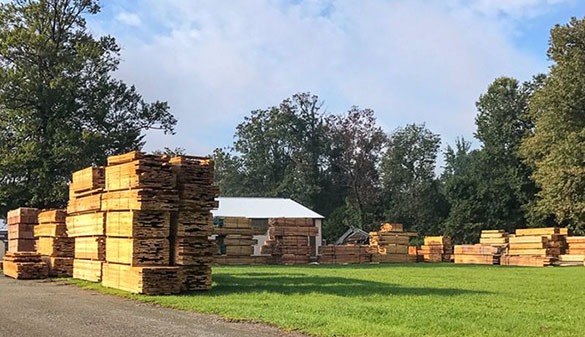 Cut lumber ready for shipping